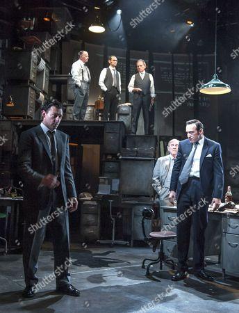 David Schofield as Hugh Cudlip, Tony Turner as Frank Nicklin, Rene Zagger as Ray Mills, Bertie Carvel as Rupert Murdoch, Geoffrey Freshwater as Sir Alick McKay, Richard Coyle as Larry Lamb