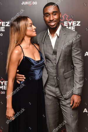 Katerina Graham and Demetrius Shipp Jr..
