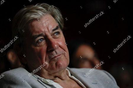 Stock Image of British writer Patrick McGrath attends 'La Milanesiana' cultural event, in Milan, Italy