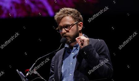 Stock Image of Italian writer Paolo Giordano attends 'La Milanesiana' cultural event, in Milan, Italy