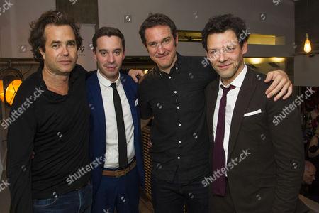 Rupert Goold (Director), James Graham (Author), Bertie Carvel (Rupert Murdoch) and Richard Coyle (Larry Lamb)