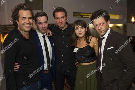 Rupert Goold (Director), James Graham (Author), Bertie Carvel (Rupert Murdoch), Pearl Chanda (Stephanie Rahn) and Richard Coyle (Larry Lamb)