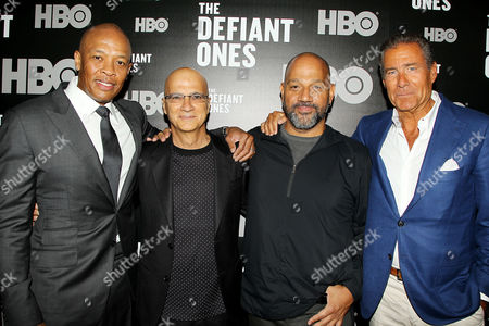 Dr Dre, Jimmy Iovine, Allen Hughes and Richard Plepler