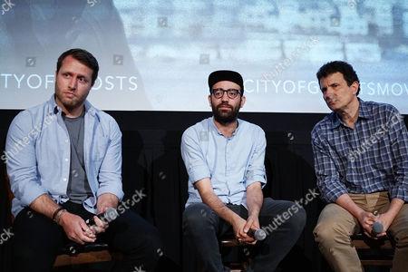 Stock Photo of Matthew Heineman, Abdalaziz Alhamza, David Remnick