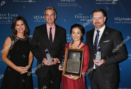 Stock Image of Rebecca Jarvis, Natalie Obiko Pearson, Jason Gale, Monte Reel