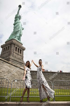 Editorial image of Miss Universe and Miss USA visit the Statue of Liberty and Ellis Island, New York, USA - 27 Jun 2017