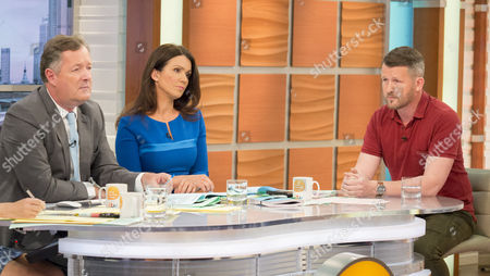 Piers Morgan and Susanna Reid with Diggory Hadoke