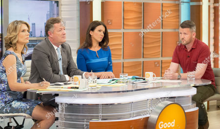 Charlotte Hawkins, Piers Morgan and Susanna Reid with Diggory Hadoke