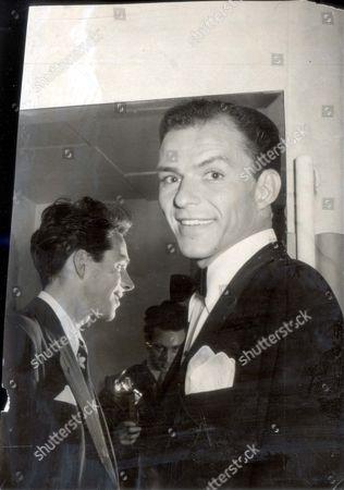 Singer Frank Sinatra Picture With Johnny Dankworth Now Sir John Dankworth In 1950.