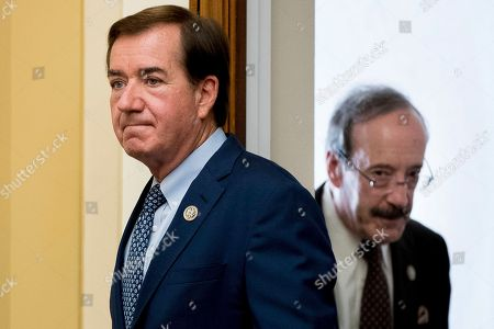 Ed Royce, Eliot Engel House Foreign Affairs Committee Chairman Rep. Ed Royce, R-Calif., left, followed by the committee's ranking member Rep. Eliot Engel, D-N.Y., arrive on Capitol Hill in Washington, for the committee's hearing with U.S. Ambassador to the UN Nikki Haley testifying on advancing U.S. interests at the United Nations