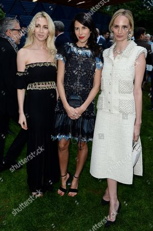 Sabine Getty, Caroline Sieber and Lauren Santo Domingo