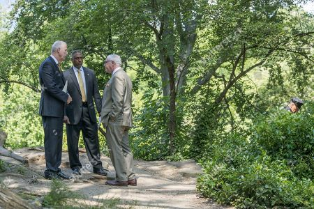 Robert Boyce, John Miller, Ashan Benedict NYPD Detectives Chief Robert Boyce, left, Deputy Commissioner of Intelligence & Counter-terrorism John Miller, right, and ATF New York Field Division Special Agent in Charge Ashan Benedict speak near the scene of an unsolved 2016 explosion in New York's Central Park