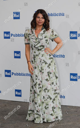 RAI (Italian State Television) conductors Geppi Cucciari poses during the presentation of TV programs that will be aired in the next fall, in Milan, Italy