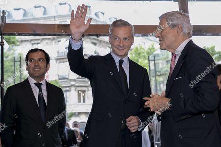 Bruno Lemaire, and son Nicolas Houze
