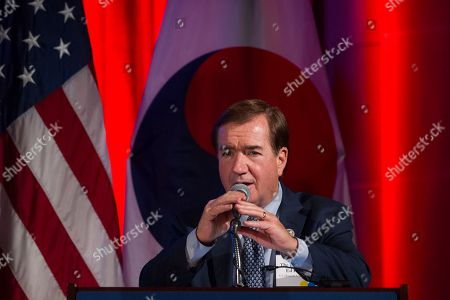 House Committee on Foreign Affairs Chairman Ed Royce, R-Calif., speaks to a dinner hosted by the U.S. Chamber of Commerce and the South Korean Chamber of Commerce for South Korean President Moon Jae-in, in Washington