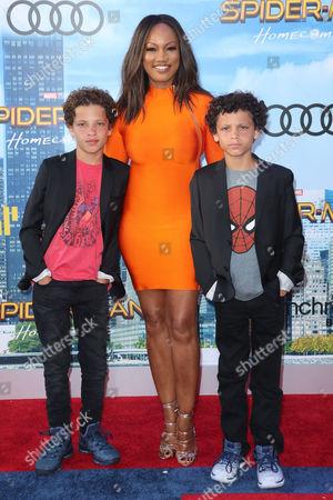 Garcelle Beauvais with sons Jaid Thomas Nilon and Jax Joseph Nilon