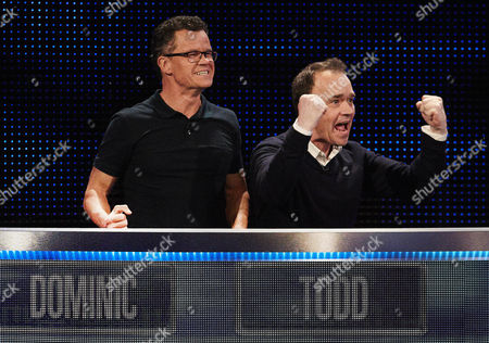 Dominic Holland and Todd Carty celebrate