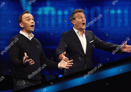 (l-r) Todd Carty and host Bradley Walsh face The Chaser
