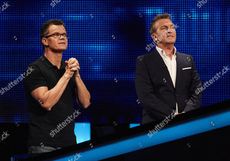 Dominic Holland and host Bradley Walsh face The Chaser