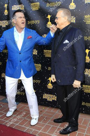 US actors Bruce Campbell, Lee Majors (L-R) arrive for the 43rd Annual Saturn Awards held at The Castaway in Burbank, California, USA, 28 June 2017. (issued 29 June) The Saturn Awards honors the best in science fiction, fantasy, horror and other genres in film, television, home media releases, and theatre
