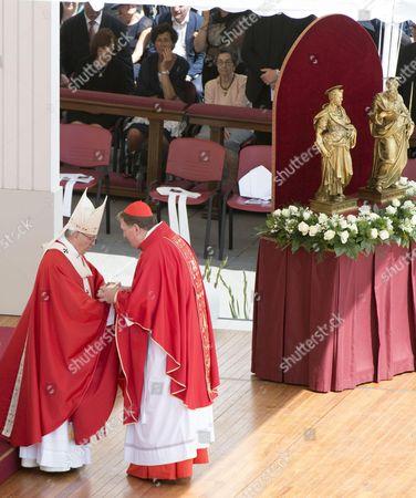 Pope Francis and Joseph William Tobin