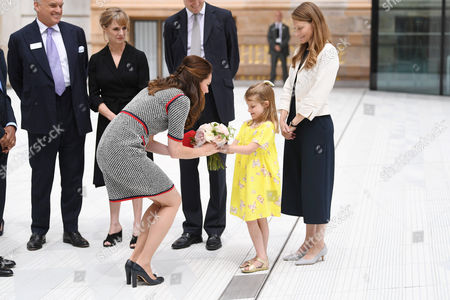 Stock Image of Catherine Duchess of Cambridge and Lydia Hunt, daughter of Tristram Hunt
