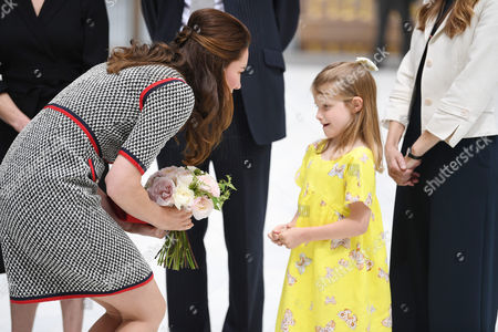 Catherine Duchess of Cambridge and Lydia Hunt, daughter of Tristram Hunt