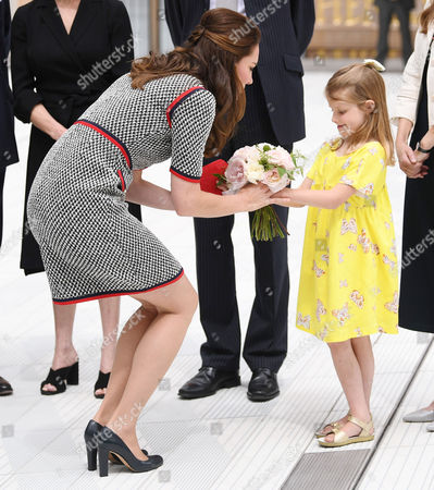 Stock Photo of Catherine Duchess of Cambridge and Lydia Hunt, daughter of Tristram Hunt