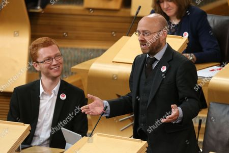 Ross Greer and Patrick Harvie, Co-convener of the Scottish Greens