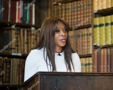 Editorial photo of Dambisa Moyo at the Oxford Union, UK - 11 May 2017