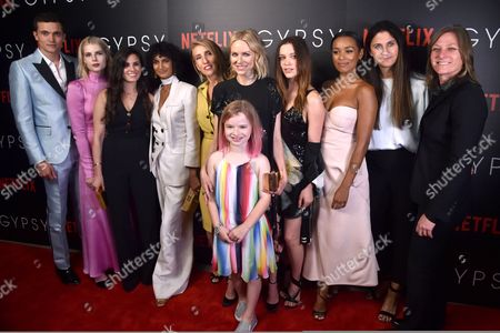 Stock Picture of Karl Glusman, Lucy Boynton, Lisa Rubin, Poorna Jagannathan, Sam Taylor-Johnson, Naomi Watts, Maren Heary, Sophie Cookson, Liza Chasin