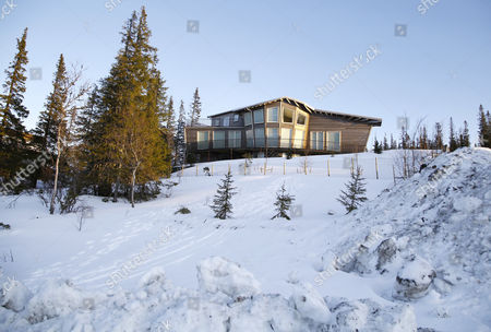 General view of Zlatan Ibrahimovic 's and Helena Seger 's new house outside the skiresort Åre