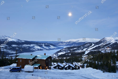 View of the landscape behind Zlatan Ibrahimovic 's and Helena Seger 's new house outside the skiresort Åre