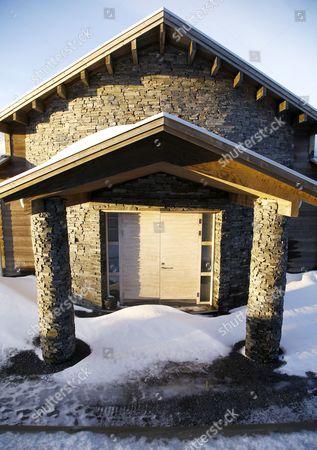Front entrance of Zlatan Ibrahimovic 's and Helena Seger 's new house outside the skiresort Åre