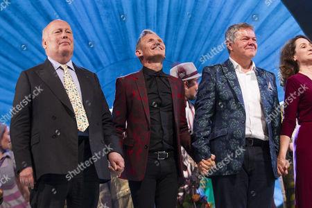 Julian Fellowes (Adaptation), George Stiles (Music/Lyrics) and Anthony Drewe (Music/Lyrics) during the curtain call