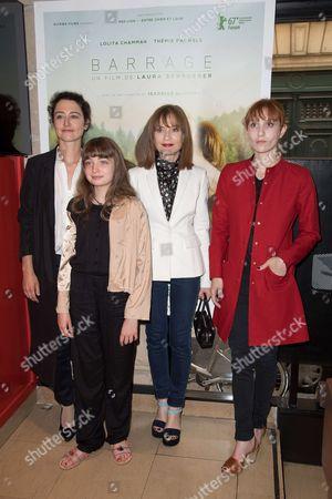 Isabelle Huppert, Laura Schroeder, Lolita Chammah and Themis Pauwels