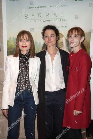 Isabelle Huppert, Laura Schroeder and Lolita Chammah