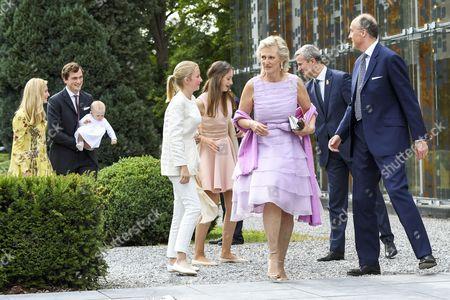 Prince Amedeo, Princess Anna Astrid, Elisabetta Rosbosch von Wolkenstein, Princess Louise, Princess Luisa Maria, Prince Lorenz and Princess Astrid