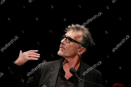 Stock Photo of U.S. writer Michael Cunningham, Pulitzer Prize-winning author of The Hours and By Nightfall, attends 'La Milanesiana' cultural event, in Milan, Italy