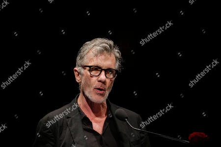 Stock Image of U.S. writer Michael Cunningham, Pulitzer Prize-winning author of The Hours and By Nightfall, attends 'La Milanesiana' cultural event, in Milan, Italy