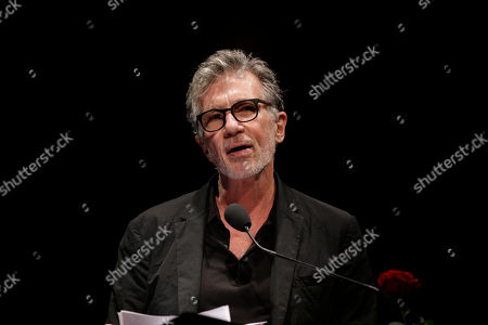 Stock Picture of U.S. writer Michael Cunningham, Pulitzer Prize-winning author of The Hours and By Nightfall, attends 'La Milanesiana' cultural event, in Milan, Italy
