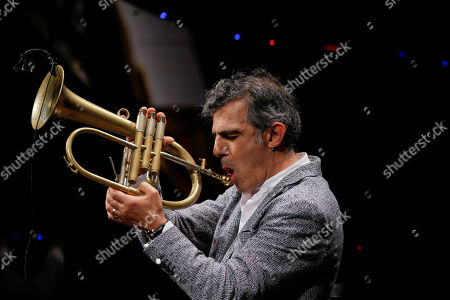 Italian trumpeter and phlogornist Paolo Fresu performs during 'La Milanesiana' cultural event, in Milan, Italy