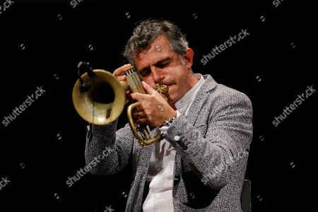 Stock Photo of Italian trumpeter and phlogornist Paolo Fresu performs during 'La Milanesiana' cultural event, in Milan, Italy
