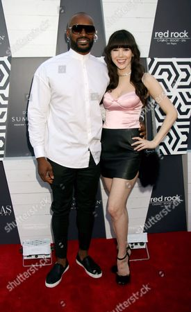Stock Picture of Tyson Beckford, Claire Sinclair