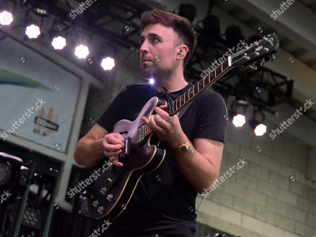 Lead singer Simon Thompson of the band Alvarez Kings performs live at Henry Maier Festival Park during Summerfest in Milwaukee, Wisconsin