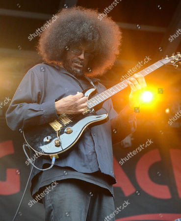 Stock Photo of Guitarist Rocky George of the band Fishbone performs live at Henry Maier Festival Park during Summerfest in Milwaukee, Wisconsin