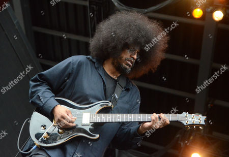 Guitarist Rocky George of the band Fishbone performs live at Henry Maier Festival Park during Summerfest in Milwaukee, Wisconsin