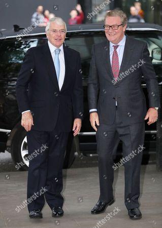 Sir John Major and Australian High Commissioner Alexander Downer