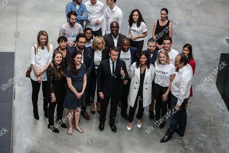 Delphine Arnault, Brigitte Trogneux, Emmanuel Macron, Anne Hidalgo and Xavier Niel