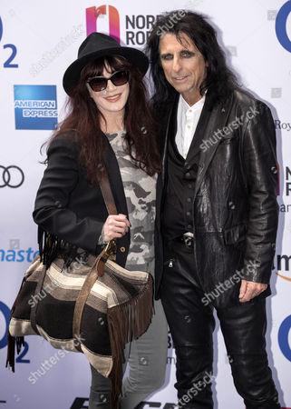 Sheryl Goddard and Alice Cooper